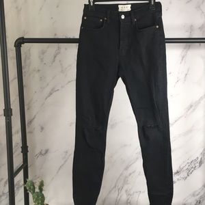 We the Free distressed black jeans 26 buttonfly
